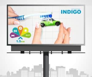 Реклама на билборде Мозырь